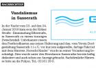 Odenkirchner Nachrichten 2.02.2016 -- Vandalismus in Sasserath