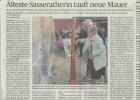 Älteste Sasseratherin tauft neue Mauer - 27.09.2014