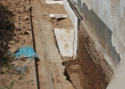 Grundmauersanierung Front Schule