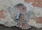Spülwasserabfluß Theke Rückseite 1. Anbau